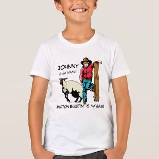 La camiseta del rodeo del tipo del cordero playeras