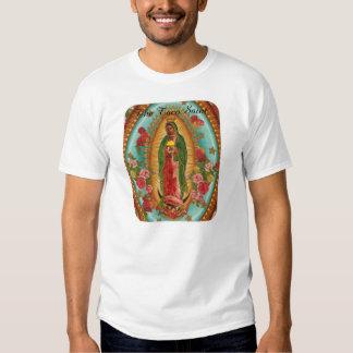 La camiseta del santo del Taco con palabras negras Playeras