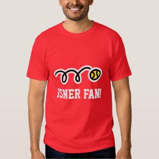La camiseta del tenis de la fan de Isner para las Polera
