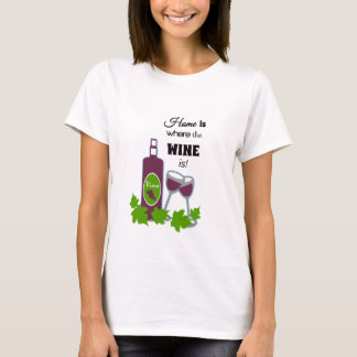 La camiseta del vino de la cita del vino de las