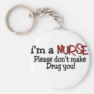 La camiseta divertida de la enfermera no hace que llaveros personalizados