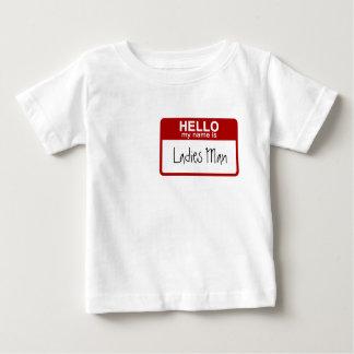 La camiseta divertida del bebé, hola mi nombre es camisas