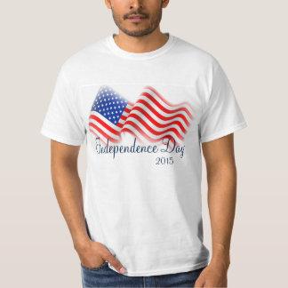 La camiseta/el Día de la Independencia de los Poleras