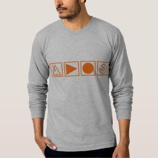 La camiseta envuelta larga gris del nuevo poleras