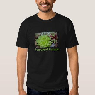 La camiseta fanática suculenta de los hombres playeras