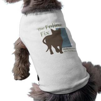 La camiseta felina del gato/del perro del arreglo ropa de perro