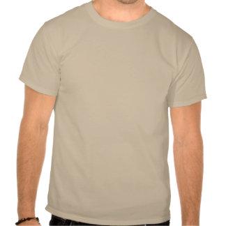 La camiseta feliz de la arena del logotipo de