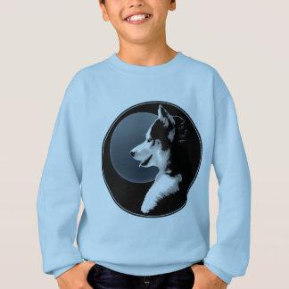 La camiseta fornida del niño del perro de trineo