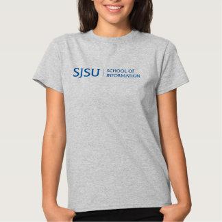 La camiseta gris de las mujeres con el logotipo playera