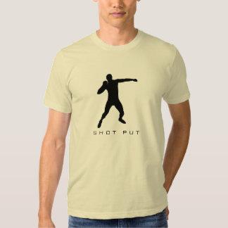 La camiseta lanzamiento de peso de los hombres del playeras