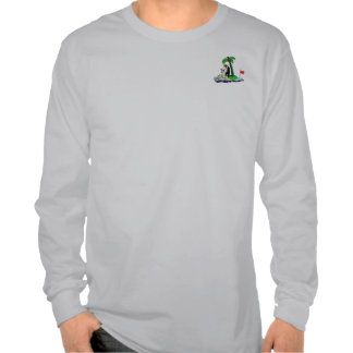 La camiseta larga de refrigeración de la manga del