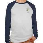 La camiseta larga del raglán de la manga del