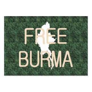 La CAMISETA libera Birmania Plantillas De Tarjetas De Visita