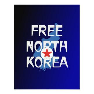 "La CAMISETA libera Corea Invitación 4.25"" X 5.5"""