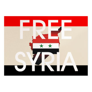 La CAMISETA libera Siria Plantillas De Tarjetas Personales