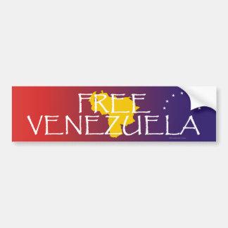 La CAMISETA libera Venezuela Pegatina Para Auto