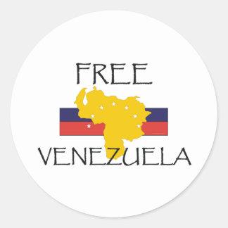 La CAMISETA libera Venezuela Pegatina Redonda