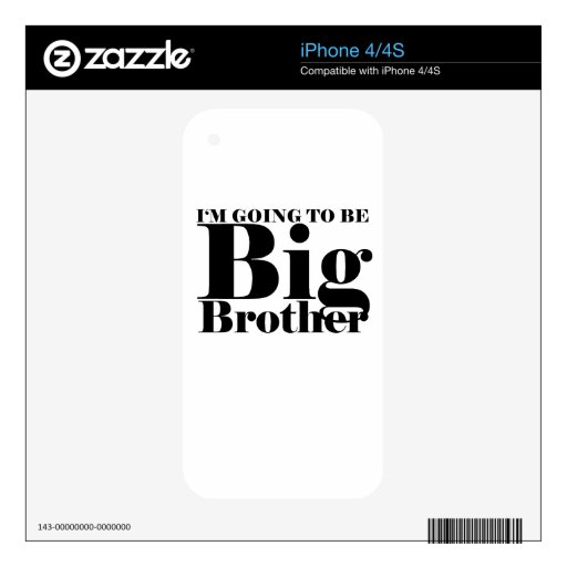 La camiseta M.png de los niños futuros de hermano  Calcomanías Para iPhone 4