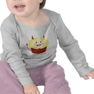 La camiseta malvada del bebé de la magdalena