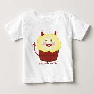 La camiseta malvada del bebé de la magdalena playera
