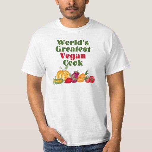La camiseta más grande del cocinero del vegano del polera