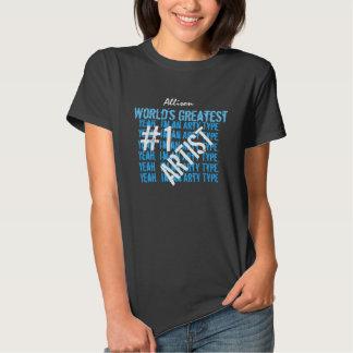 La camiseta más grande V09 del negro del ARTISTA Playera