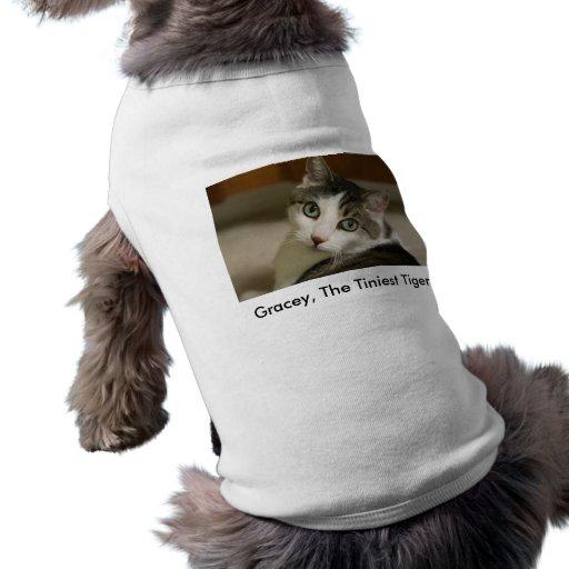 La camiseta más minúscula del mascota del tigre ropa para mascota