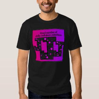 La camiseta negra de los hombres de JJJ Playera