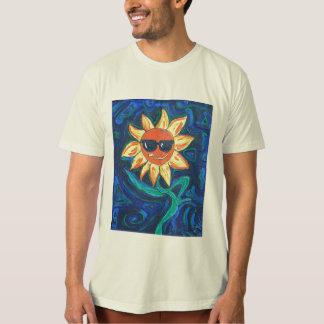 La camiseta orgánica de los hombres - soleada el polera
