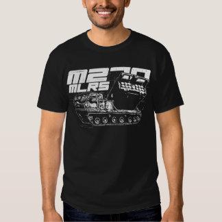 La camiseta oscura básica de los hombres del MLRS Poleras