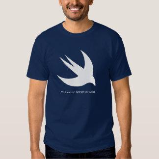 La camiseta oscura básica de los hombres rápidos polera