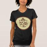 La camiseta oscura de las mujeres de Ganesha