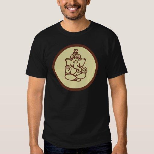 La camiseta oscura de los hombres de Ganesha Playera
