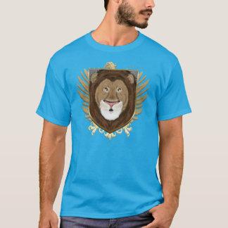 La camiseta oscura de los hombres del león Shield2