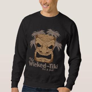 La camiseta oscura de Tiki de los hombres