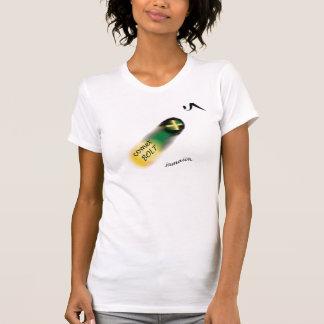 """La camiseta """"perno de 058 mujeres de Jamaica del c"""
