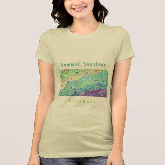 La camiseta poner crema suave de las mujeres: Arte