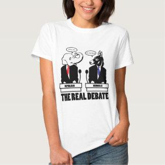 La camiseta real del discusión camisas
