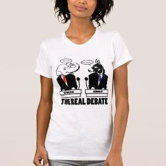 La camiseta real del discusión - modificada para poleras