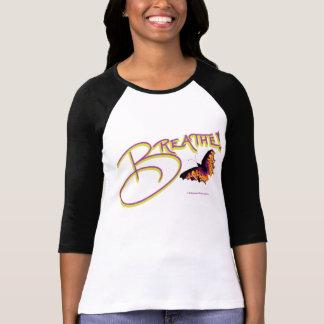 la camiseta, respira, mariposa, blanco y negro,