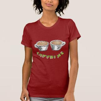 La camiseta roja de las mujeres del cafeína