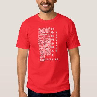 La camiseta roja de los hombres del superviviente camisas