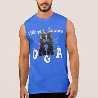La camiseta sin mangas ultra azul de los hombres