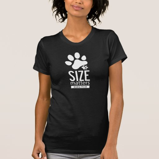 "La camiseta ""tamaño importa"" 2-Sided Polera"
