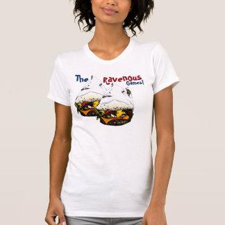 La camiseta voraz de la hamburguesa del Mt. de los