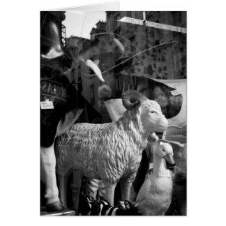 La Campagne à Paris rue Daguerre Sheep Cows Card
