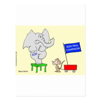 La campaña de Ron Paul asusta a republicanos Tarjetas Postales