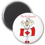 ¡La Canadá de Vive! Imán Redondo 5 Cm