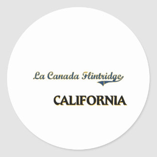 La Canada Flintridge California City Classic Sticker