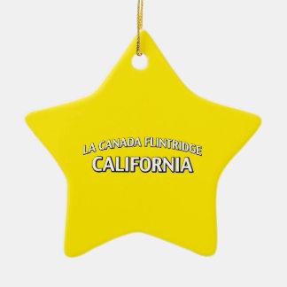 La Canada Flintridge California Christmas Tree Ornament